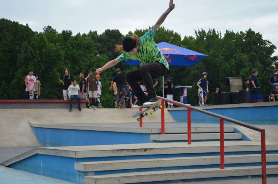 photo of skateboarder