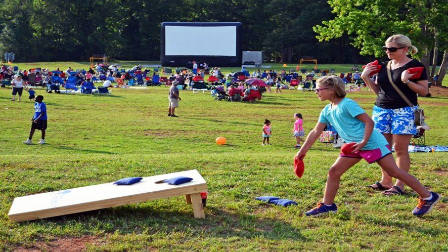 photo of outdoor movie event