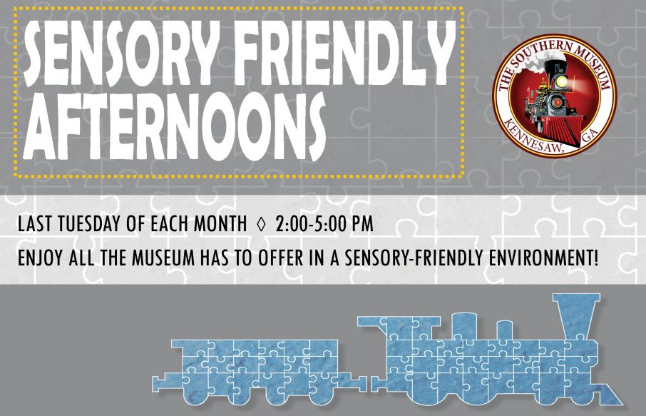 promo graphic for sensory friendly afternoons
