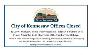 City Hall Closed- Thanksgiving Holidays