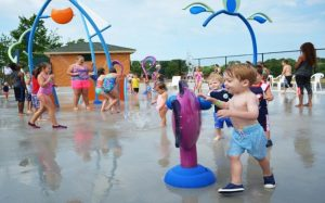 image of children playing at splash pad