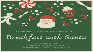 Breakfast with Santa @ Ben Robertson Community Center